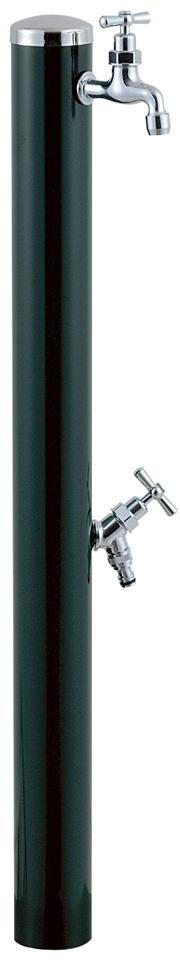 宝泉製作所 スタイリッシュモダン水栓柱 ウォーターポール ・_ークグリーン 2口 351DG