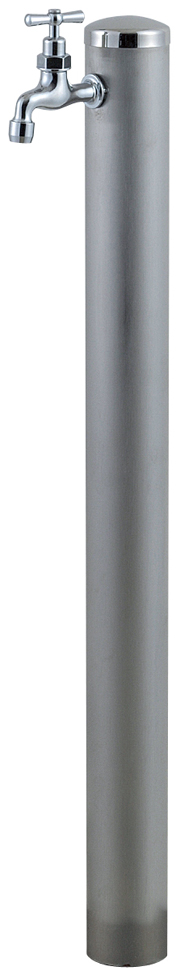 宝泉製作所 スタイリッシュモダン水栓柱 ウォーターポール ヘアライン 1口 351H-1