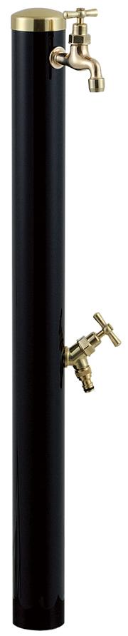 宝泉製作所 スタイリッシュモダン水栓柱 ウォーターポール ブラック 2口 352B