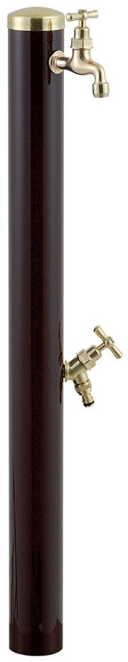 宝泉製作所 スタイリッシュモダン水栓柱 ウォーターポール チョコ 2口 352C
