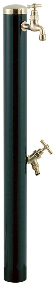 宝泉製作所 スタイリッシュモダン水栓柱 ウォーターポール ダークグリーン 2口 352DG