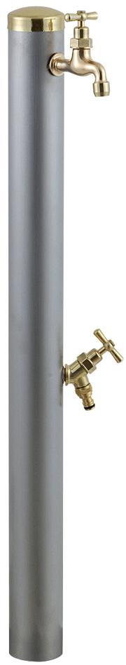 宝泉製作所 スタイリッシュモダン水栓柱 ウォーターポール ヘアライン 2口 352H