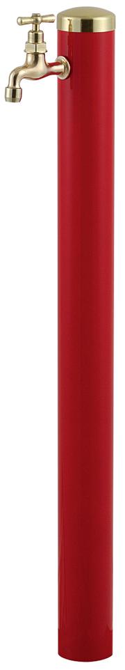 宝泉製作所 スタイリッシュモダン水栓柱 ウォーターポール レッド 1口 352R-1
