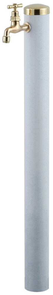 宝泉製作所 スタイリッシュモダン水栓柱 ウォーターポール ホワイト 1口 352W-1