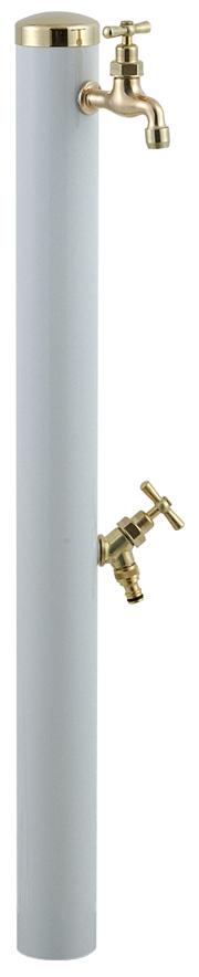 宝泉製作所 スタイリッシュモダン水栓柱 ウォーターポール ホワイト 2口 352W