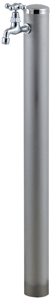 宝泉製作所 スタイリッシュモダン水栓柱 ウォーターポール ヘアライン 1口 353H-1
