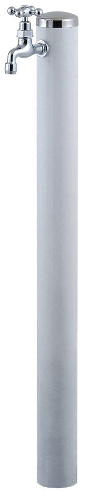 宝泉製作所 スタイリッシュモダン水栓柱 ウォーターポール ホワイト 1口 353W-1