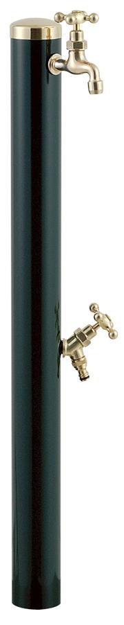 宝泉製作所 スタイリッシュモダン水栓柱 ウォーターポール ダークグリーン 2口 355DG