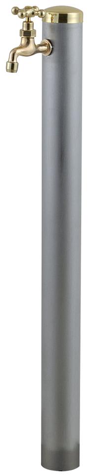宝泉製作所 スタイリッシュモダン水栓柱 ウォーターポール ヘアライン 1口 355H-1