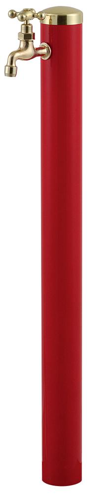 宝泉製作所 スタイリッシュモダン水栓柱 ウォーターポール レッド 1口 355R-1