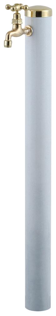 宝泉製作所 スタイリッシュモダン水栓柱 ウォーターポール ホワイト 1口 355W-1