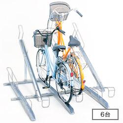 ダイケン 自転車用 傾斜式 サイクルスタンド KS-F286(スタンドピッチ280) 収容台数6台[自動車/駐輪/駐輪所/スペース/設置/ラック/停める/ダイケン/だいけん]