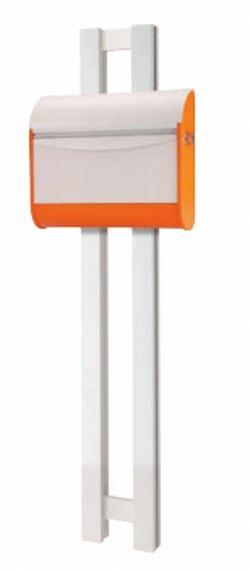 MINATO EXTERIOR ポスト オプション リット (ドロップ専用ポール) 本体色:ホワイト ※スリットカラー6色選択可能 【送料無料】