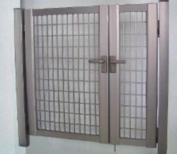 MINATO EXTERIOR ミナト アルミ形材門扉 SH2型 0812D 両開き ※本体色 2色選択可能 【送料無料】