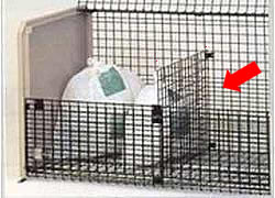 四国化成工業 ゴミステーション 大型ゴミ箱 GS仕切り板 (シコク ゴミストッカー MS2型用) [自治会/町内会/設置/屋外/カラス/対策/猫/大容量/ごみ/ゴミ箱]