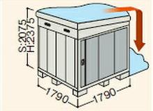 【北海道限定】イナバ物置 ネクスタ NXN-32HB 側面流れBタイプ ハイルーフ 一般・多雪地型 [収納庫/収納/屋外収納庫/倉庫/NEXTA/大型/中型/小屋/いなば物置/稲葉/物置き]