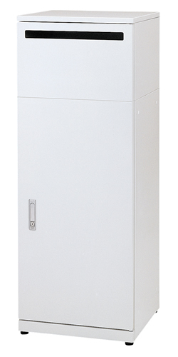 株ぶんぶく 屋内用ゴミ箱リサイクルステーション 機密書類タイプ ネオホワイト(塗装) OSE-R-4 ※受注生産品