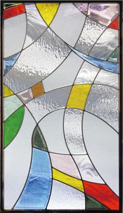 遮音・断熱・防犯性のステンドグラス ピュアグラス Aサイズ SH-A12 [ステンドグラス/ガラス/インテリア/窓/小窓/室内/屋内]