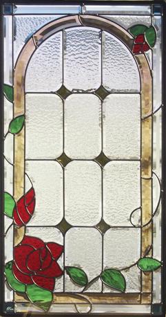 遮音・断熱・防犯性のステンドグラス ピュアグラス Aサイズ SH-A16 [ステンドグラス/ガラス/インテリア/窓/小窓/室内/屋内]
