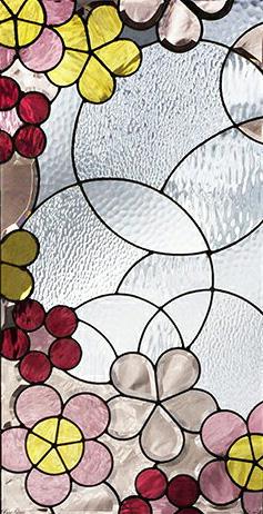 セブンホーム 遮音・断熱・防犯性のステンドグラス ピュアグラス Aサイズ SH-A29 [ステンドグラス/ガラス/インテリア/窓/小窓/室内/屋内]