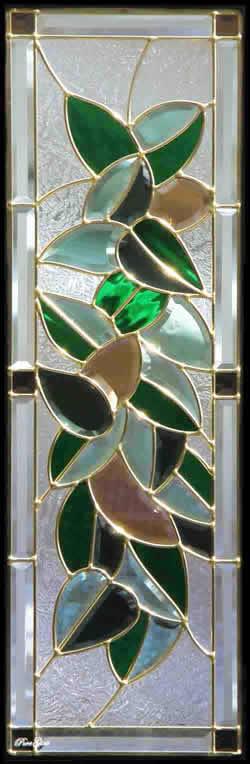 遮音・断熱・防犯性のステンドグラス ピュアグラス Cサイズ SH-C18 [ステンドグラス/ガラス/インテリア/窓/小窓/室内/屋内]