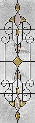 セブンホーム 遮音・断熱・防犯性のステンドグラス ピュアグラス Cサイズ SH-C25 [ステンドグラス/ガラス/インテリア/窓/小窓/室内/屋内]