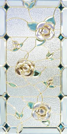 遮音・断熱・防犯性のステンドグラス ピュアグラス Aサイズ SH-A14 [ステンドグラス/ガラス/インテリア/窓/小窓/室内/屋内]
