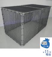 エコ環境プロジェクト 最高級品質メッシュ素材 折りたたみ式ゴミステーション チップBOX No.1266 幅1200×奥行650×高さ650mm エリア限定送料無料