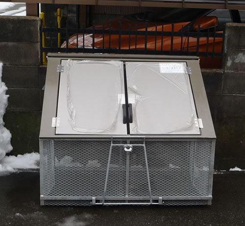 カワバタ 折りたたみ式ゴミステーション ワンタッチ君 A-5(パネル蓋) 幅1200×奥行800×高さ1000mm ※お客様組立品 送料要見積り