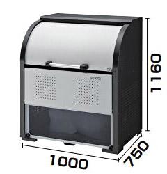 【送料無料】ダイケン ゴミステーション スチール製クリーンストッカー CKR-1007-2A型 幅1000×奥行750×高さ1160 ※組立工事対応可