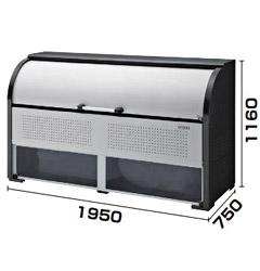 【送料無料】ダイケン ゴミステーション スチール製クリーンストッカー CKR-1907-2A型 幅1950×奥行750×高さ1160 ※組立工事対応可