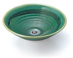 【送料無料】ニッコーエクステリア 美濃焼手洗鉢 おりべ ※排水金具付 GFM-31