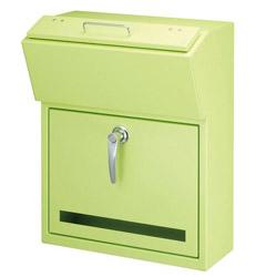 【送料無料】美濃クラフト 郵便ポスト DETAIL(デテール) 鍵付取手 上入れ前出し パステルグリーン