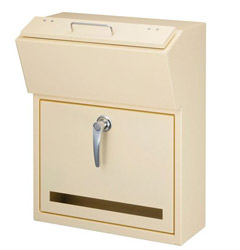 【送料無料】美濃クラフト 郵便ポスト DETAIL(デテール) 鍵付取手 上入れ前出し パステルクリーム