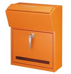 【送料無料】美濃クラフト 郵便ポスト DETAIL(デテール) 鍵付取手 上入れ前出し ゴールドオレンジ