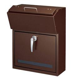 【送料無料】美濃クラフト 郵便ポスト DETAIL(デテール) 鍵付取手 上入れ前出し メタリックNブラウン