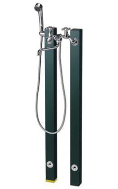 【送料無料】ニッコーエクステリア シャワープレイス 立水栓ユニット コロル OPB-RS-24+OPB-RS-24H グリーン(GR) ※シャワーヘッド付水栓金具、パンは別売