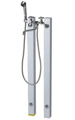 【送料無料】ニッコーエクステリア シャワープレイス 立水栓ユニット コロル OPB-RS-24+OPB-RS-24H ホワイト(WH) ※シャワーヘッド付水栓金具、パンは別売