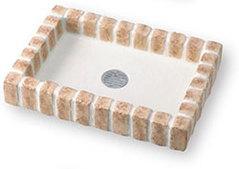 【送料無料】ニッコーエクステリア シャワー用大型パン レトロブリックパン PF-SP-PR マロンベージュ(MBE)