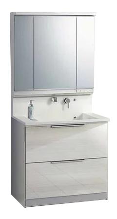 クリナップ M-903SRNE+BSRH90FSSYWD 洗面化粧台セット エス オールスライドタイプ 扉色オークミディアム 間口900mm 3面鏡 LED[シャワー水栓]