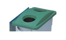 ゴミステーション 2692-88 大型ゴミ箱 グリーン ラバーメイド 3540・3541用ボトル・缶リサイクルトップ 大型ゴミ箱 グリーン 2692-88, アジアの布雑貨 ウィージャ:96d18244 --- sunward.msk.ru