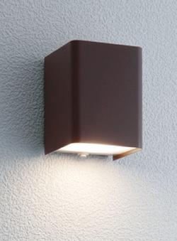 ユニソン ガーデンライト エコルトウォールライト 壁面取付け専用型 LED ラスティブラウン EA-01007-52