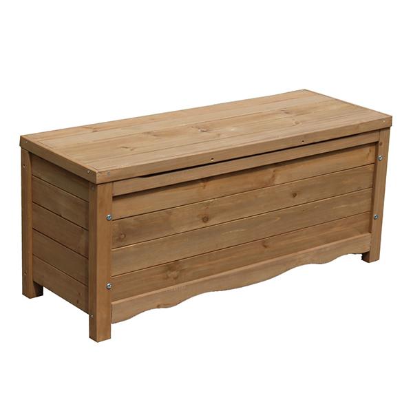住まいスタイル 物置 ベランダ 屋外収納 スチール 天然木 ボックスベンチ ブラウン BB-W90BR ※お客様組立