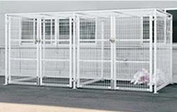 ゴミステーション 大型ゴミ箱 シコク ゴミストッカー LMF10型 引き戸式 メッシュ屋根 アンカー式 GSM10-MA4020 [自治会/町内会/設置/屋外/カラス/対策/猫/大容量/ごみ/ゴミ箱]