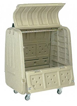 コダマ樹脂工業 ゴミステーション 大型ゴミ箱 コダマ樹脂工業 ポイスター POP-800NX キャスター100mm押手付[業務用/マンション/アパート/大容量/ゴミ箱/ゴミストッカー]