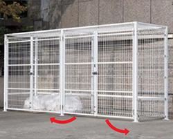 ゴミステーション EMF型 大型ゴミ箱【基本セット】シコク ゴミストッカー EMF型 開き戸式(両開き) GEM-GU2020 埋込式 ※受注生産 GEM-GU2020 ※受注生産 [自治会/町内会/設置/屋外/カラス/対策/猫/大容量/ごみ/ゴミ箱], アマギチョウ:637df600 --- sunward.msk.ru