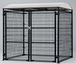 ゴミステーション 大型ゴミ箱 【連棟ユニットの為単体でのご使用不可】シコク ゴミストッカー LMF10型 開き戸式 アルミ屋根 アンカー式 LGSM10-GA2020 ※送料無料