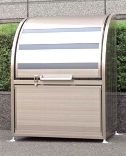 四国化成 ゴミステーション 大型ゴミ箱 シコク ゴミストッカー AP2型 (上開き+取り外し式) 425リットル GSAP2-0912SC [自治会/町内会/設置/屋外/カラス/対策/猫/大容量/ごみ/ゴミ箱]