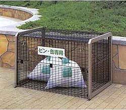 四国化成 ゴミステーション 大型ゴミ箱 シコク ゴミストッカー 側面メッシュタイプ MS2型(上開き+前倒し式) GSMS2M-1210BK [自治会/町内会/設置/屋外/カラス/対策/猫/大容量/ごみ/ゴミ箱]