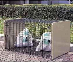 四国化成 ゴミステーション 大型ゴミ箱 シコク ゴミストッカー 側面パネルタイプ MS2型(上開き+前倒し式) GSMS2P-1210BK [自治会/町内会/設置/屋外/カラス/対策/猫/大容量/ごみ/ゴミ箱]